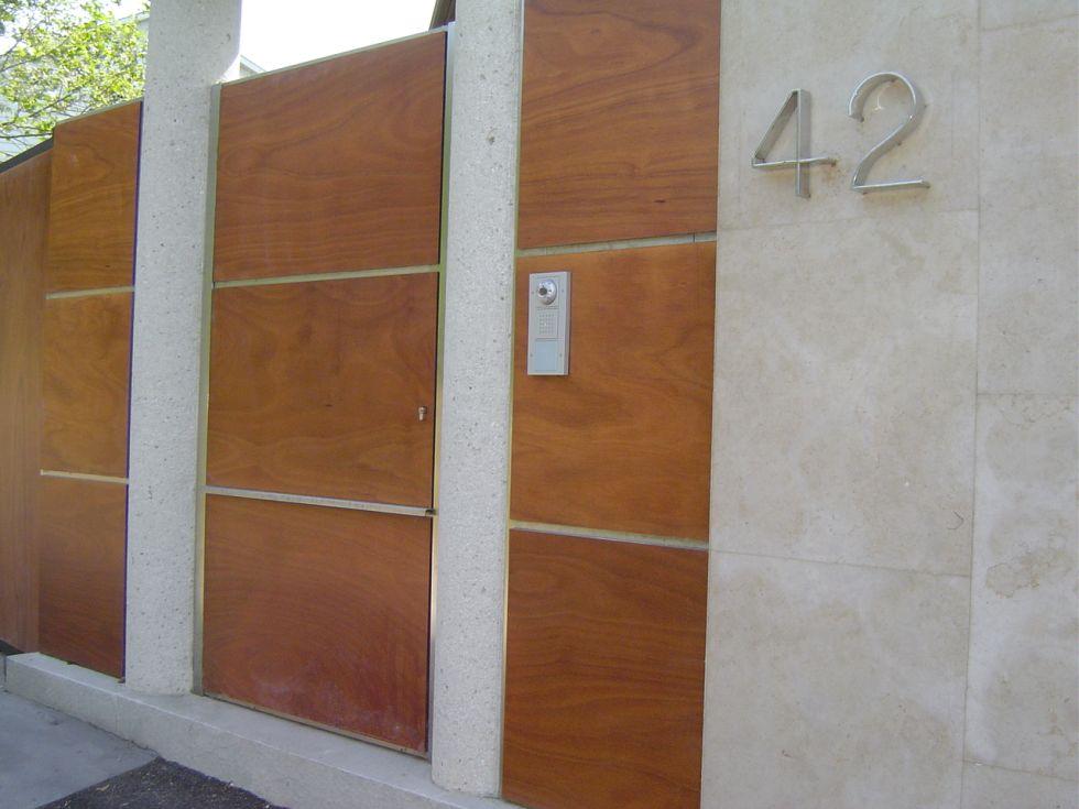 Precio puerta portal acero inoxidable simple awesome for Puertas monoblock precio